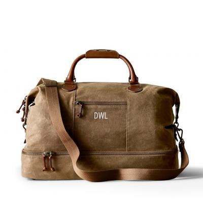 mens weekend canvas travel overnight gym duffle bag